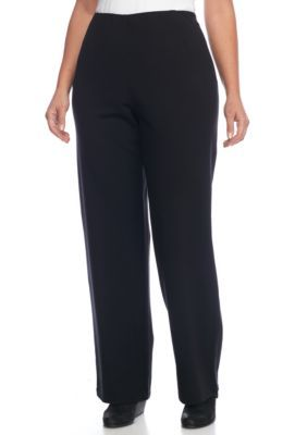 0d1944c6a5b Eileen Fisher Women s Plus Size Straight Leg Ponte Pant - Black - 3X