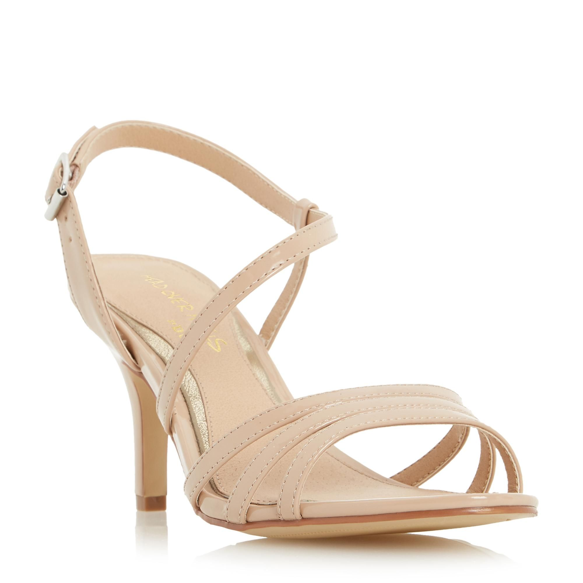 HEAD OVER HEELS LADIES MATTORI - Asymmetric Mid Heel Sandal - nude | Dune  Shoes Online