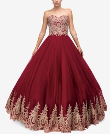 20ddad4e7a4e2 Dancing Queen Juniors' Embellished Applique Gown in 2019   Products ...