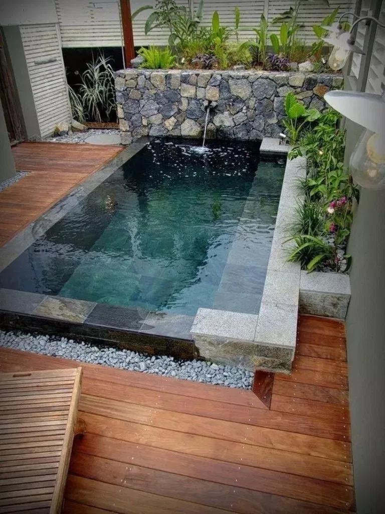 76 Amazing Small Backyard Ideas With Swimming Pool Alpha Sans Swimmingpools Backyard Swim Piscina Paesaggistica In Cortile Disegni Cortile Piscine Piccole