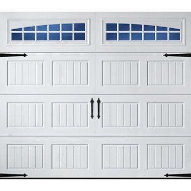 Amarr Oak Summit 2000 White Carraige House Garage Door