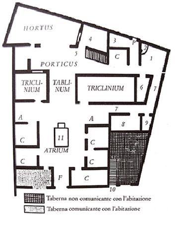 house of the surgeon iii c b c pompeii plan very