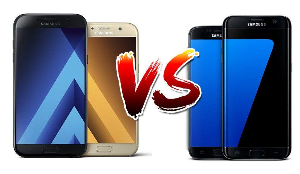 Samsung Galaxy A7 (2017) vs Samsung Galaxy S7 ...