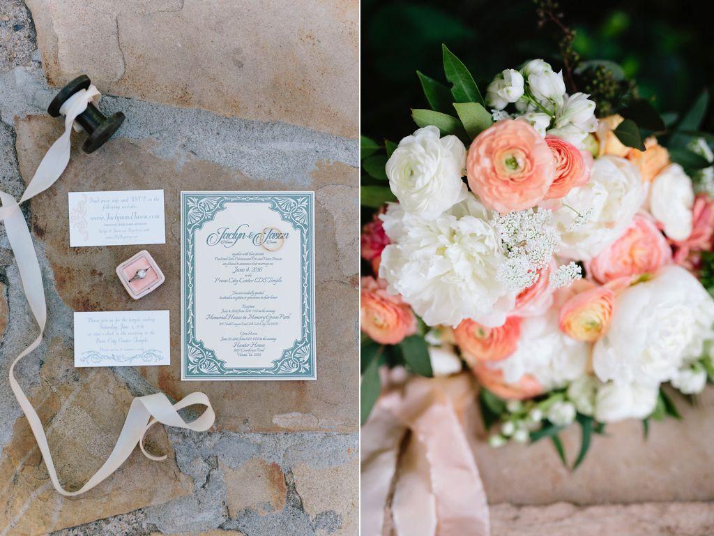 destination utah memorial house wedding at memory grove flowers