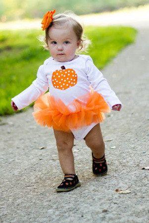 Polka Dot Pumpkin Baby Girl Tutu Bodysuit - Fall Halloween Thanksgiving Pumpkin Costume - Sizes Newborn - so cute  sc 1 st  Pinterest & Polka Dot Pumpkin Baby Girl Tutu Bodysuit - Fall Halloween ...