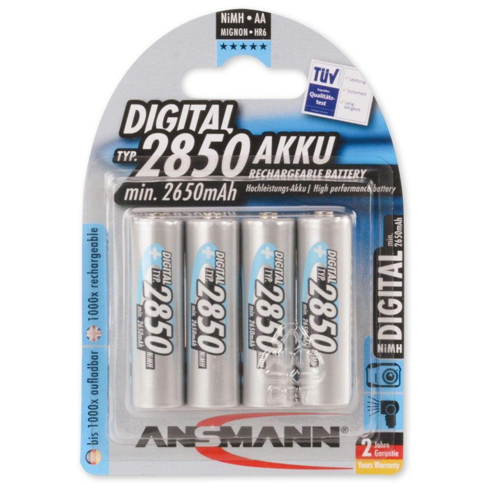 Ansmann Aa 2850 Mah Digital High Capacity Rechargeable Batteries 4 Pk Rechargeable Batteries Nimh Recharge