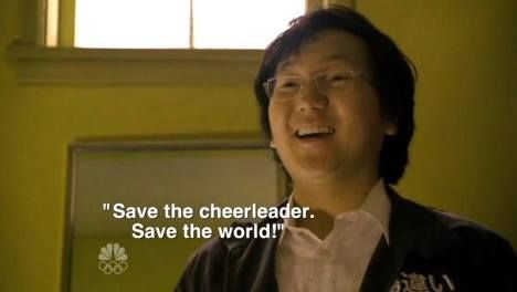 Image result for save the cheerleader save the world