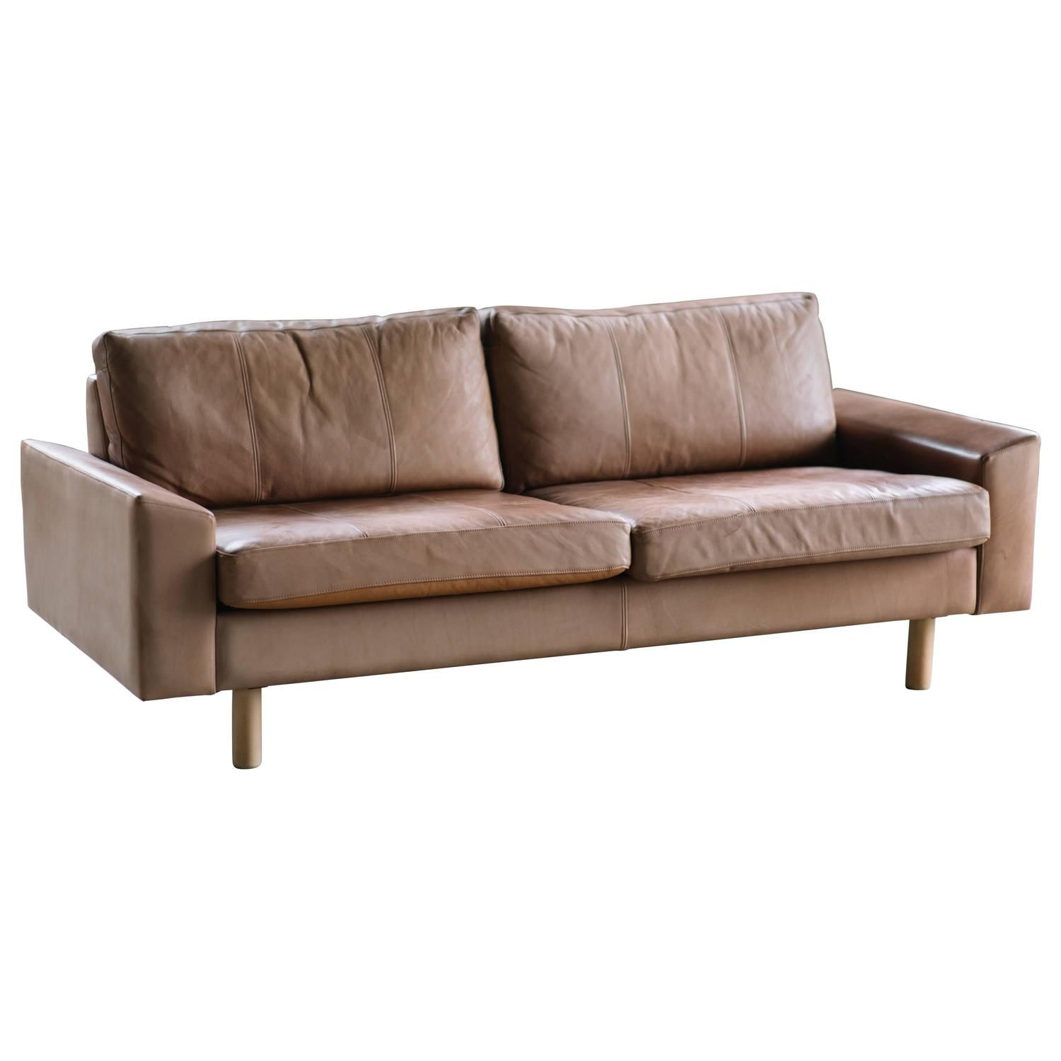Leather Sofa By Illums Bolighus With