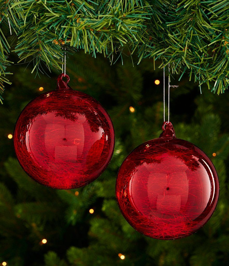 Decorating Glass Ball Ornaments Redtrimsetter Elf Collection 2Piece Blown Glass Ball Ornament