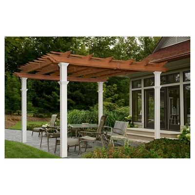 Bordeaux Two Tone 10 X 10 Pergola New England Arbors White Outdoor Pergola Pergola Patio New England Arbors