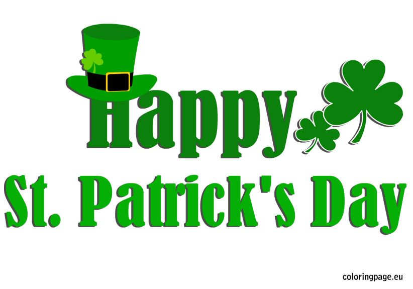 Happy St Patrick S Day Coloring Page St Patrick S Day Photos Happy St Patricks Day St Patricks Day Quotes