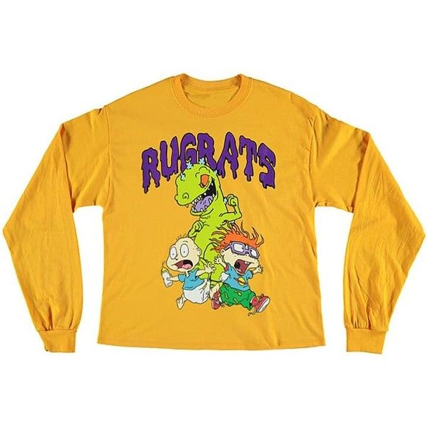 f4df0fdd1 Forever21 Rugrats Graphic Tee ($20) ❤ liked on Polyvore featuring tops, t- shirts, crew neck t shirt, forever 21 t shirts, long sleeve t shirts, ...