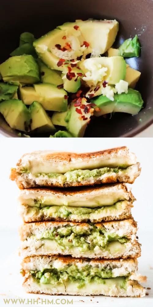Garlic Avocado Grilled Cheese Sandwich Recipe