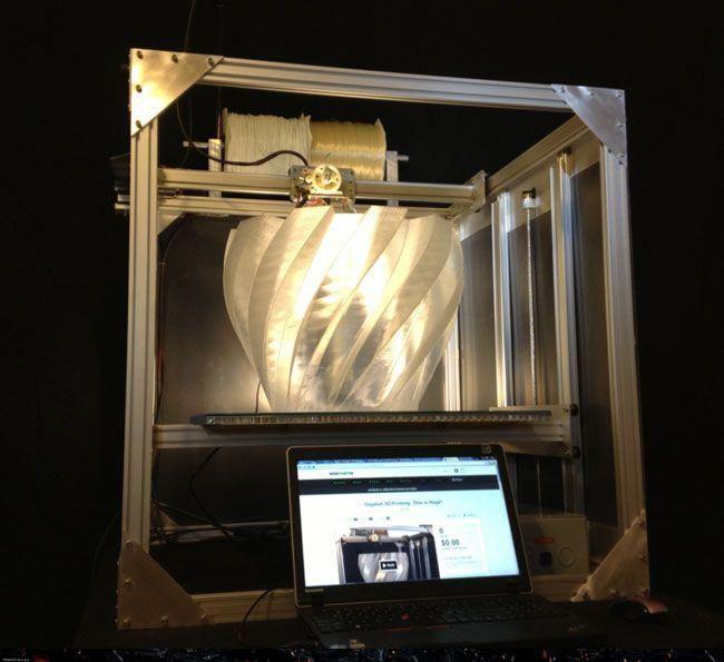 Gigabot 3D Printer launches on Kickstarter offering large format 3D ...