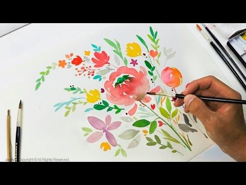 Diy Greeting Card Watercolor Painting Level 3 Aquarelllmalerei