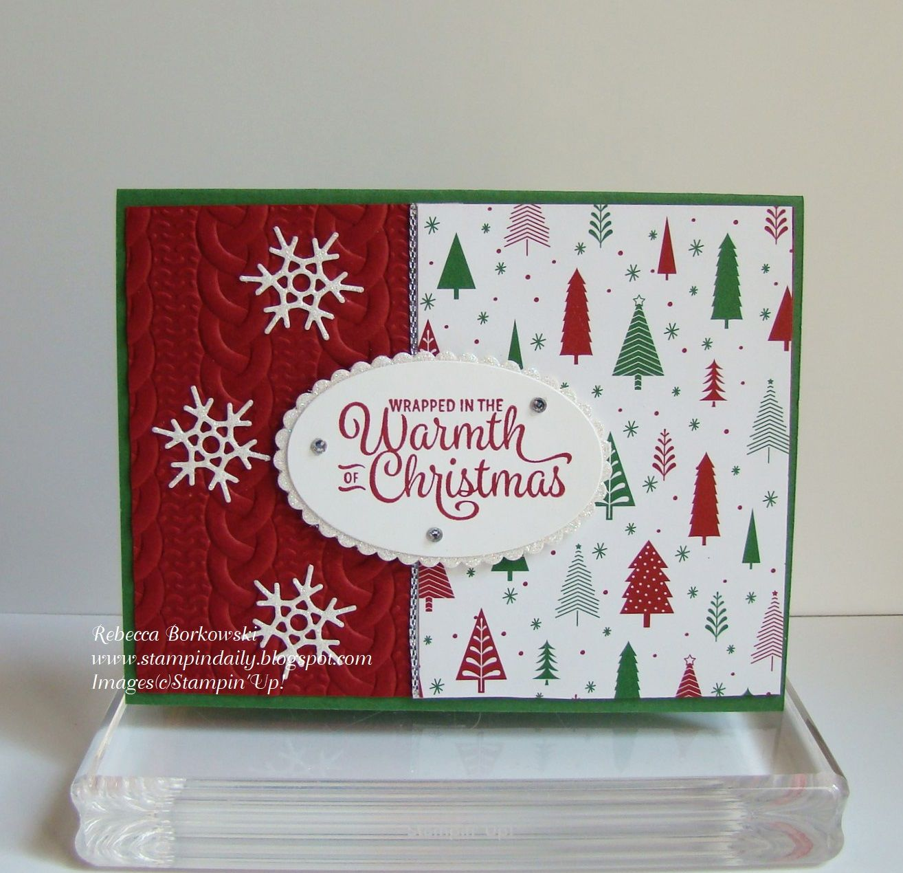 Snowflake Sentiments Clear-Mount Stamp Set [144820] Garden Green 8-1 ...
