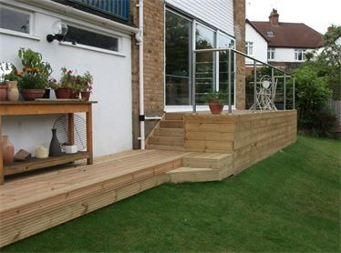 Raised Decking With Seating Uk Google Search Patio Deck Designs Timber Gates Deck Projects