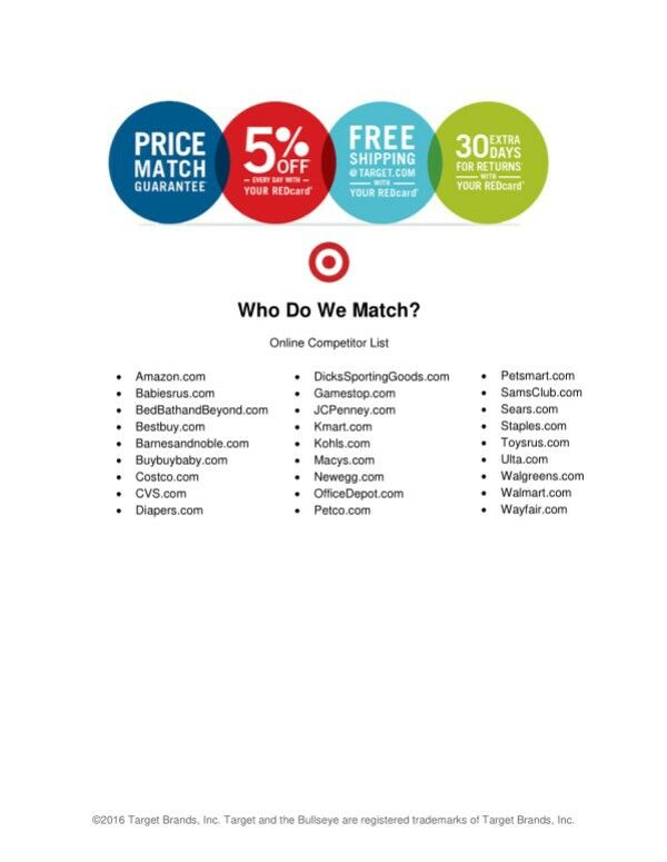 Price Match Competitors With Target Cool Things To Buy Coupon Savings Competitor