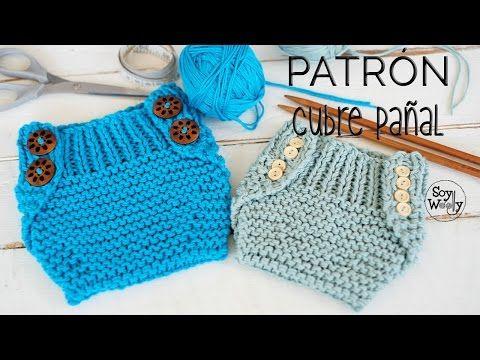 Cómo tejer un cubre pañal-braguita-calzón (dos agujas) PATRÓN 2 ...