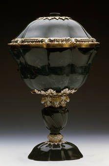 """""""Gran copa de sanguina gallonada con cabezas de leones"""", Anónimo, segundo tercio del siglo XVII / ca. 1665"""