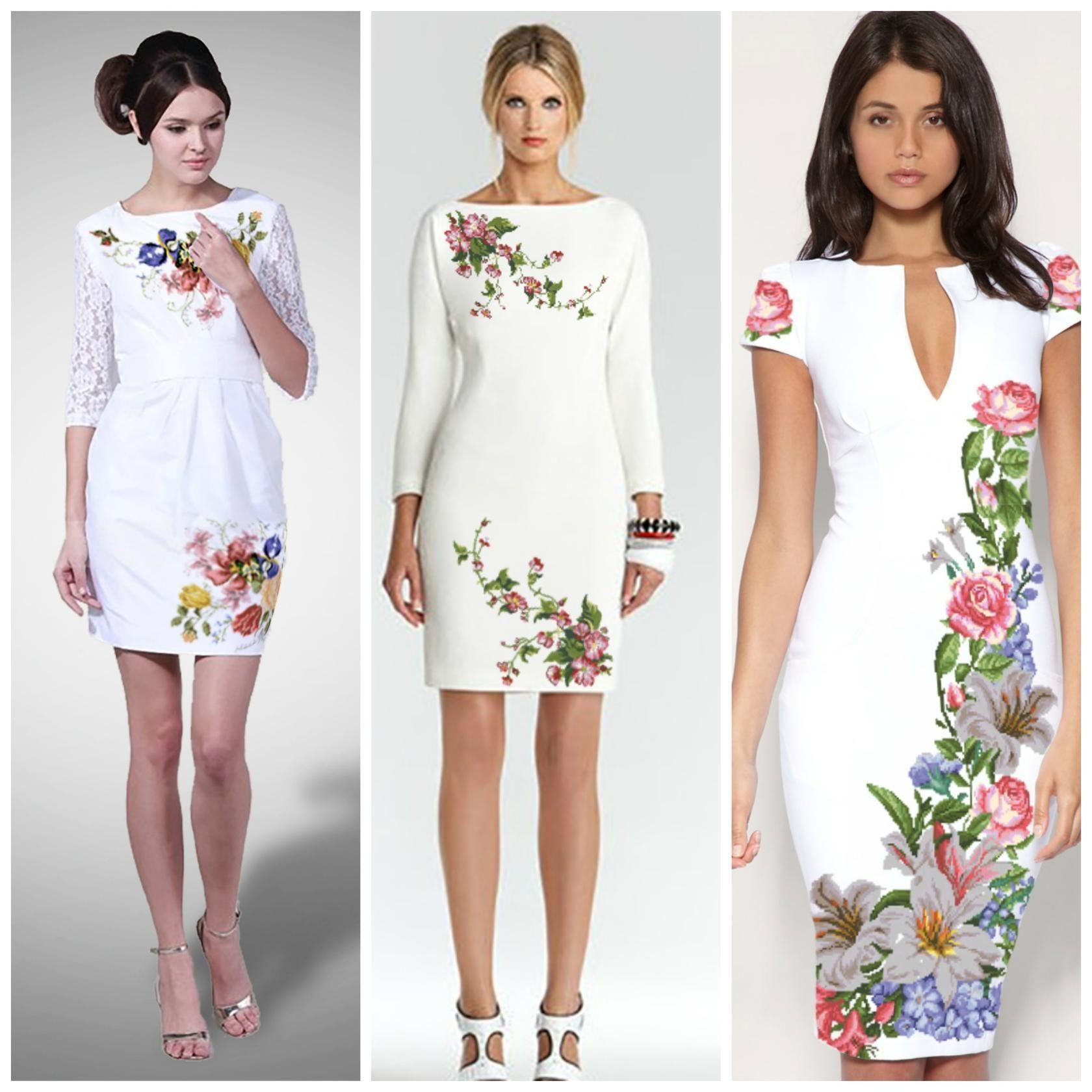 ad5b187b1e Vestido blanco con flores