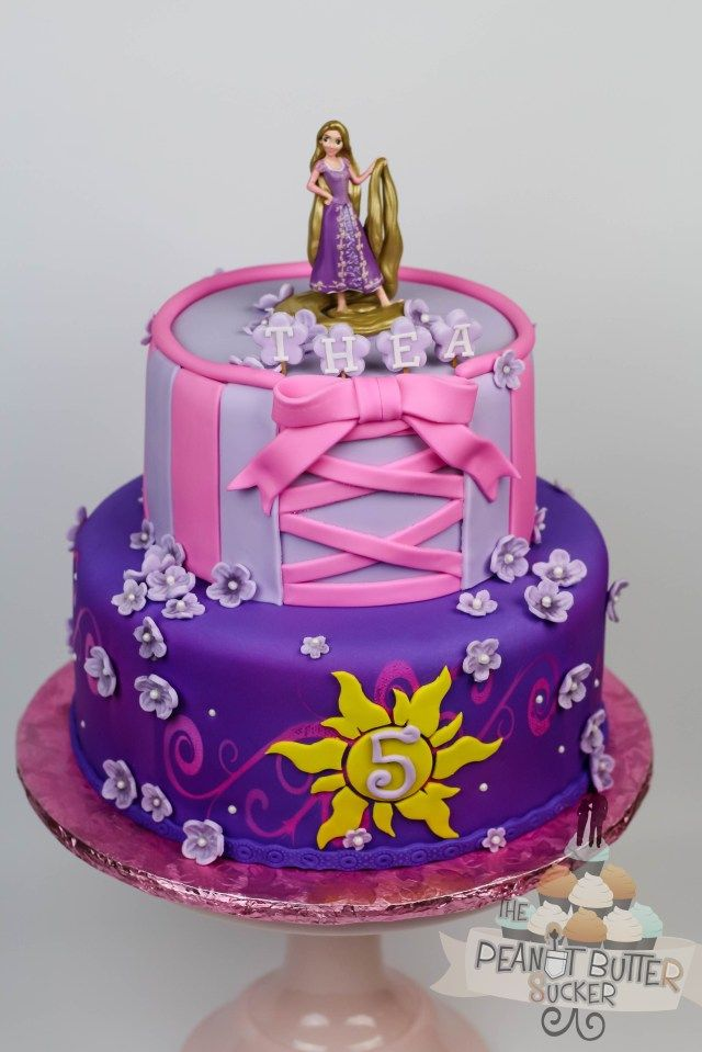 Cool 32 Excellent Photo Of Rapunzel Birthday Cake Thema Taarten Personalised Birthday Cards Veneteletsinfo