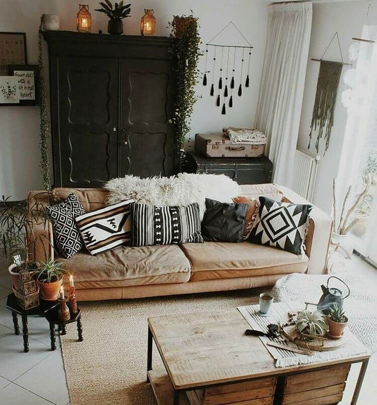 35 Awesome Bohemian Home Decor - Living Room, Bedroom, Kitchen & Wall Decor #bohemianhome