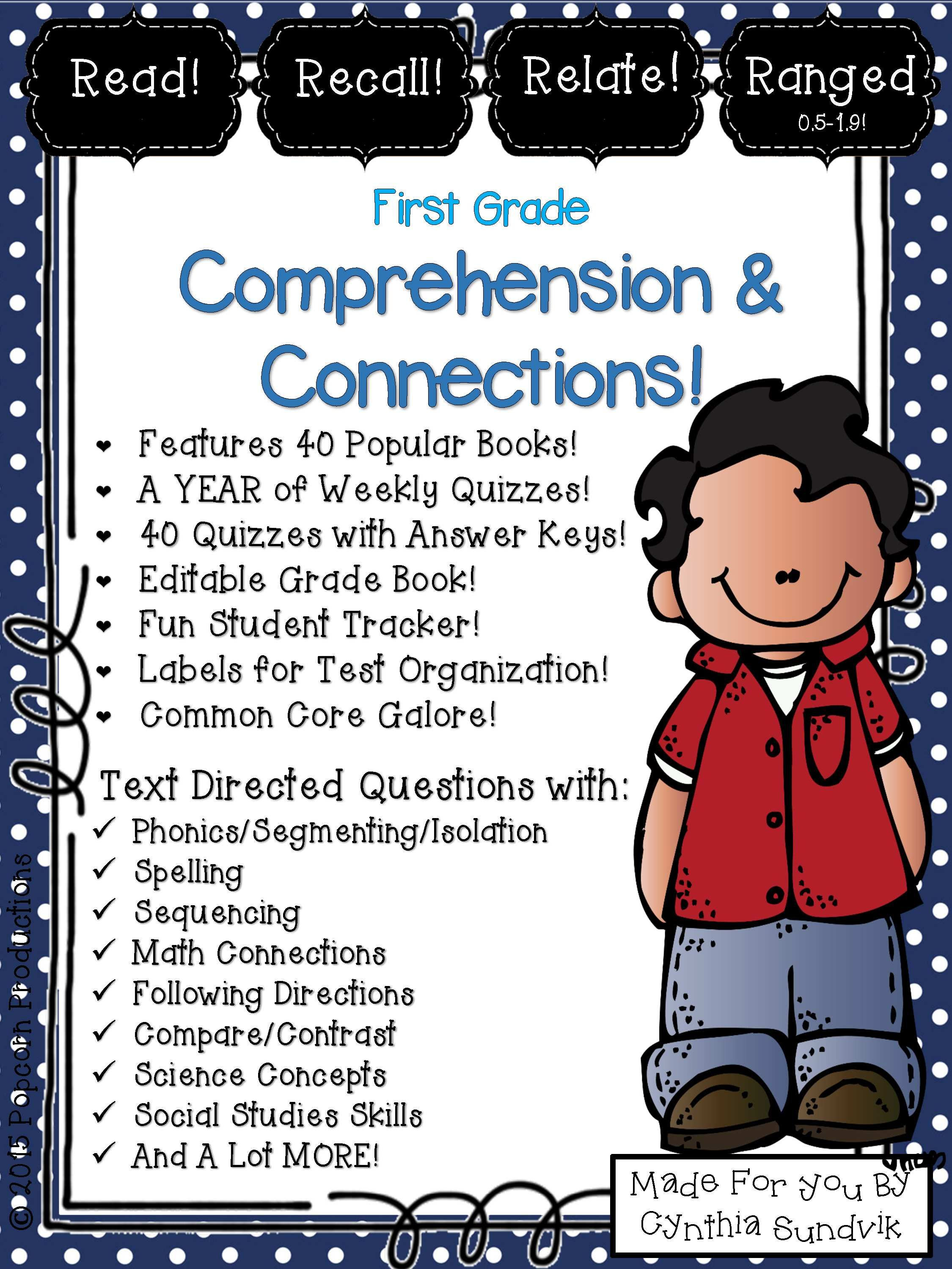K 1 Reading Comprehension Worksheets Activities For 40