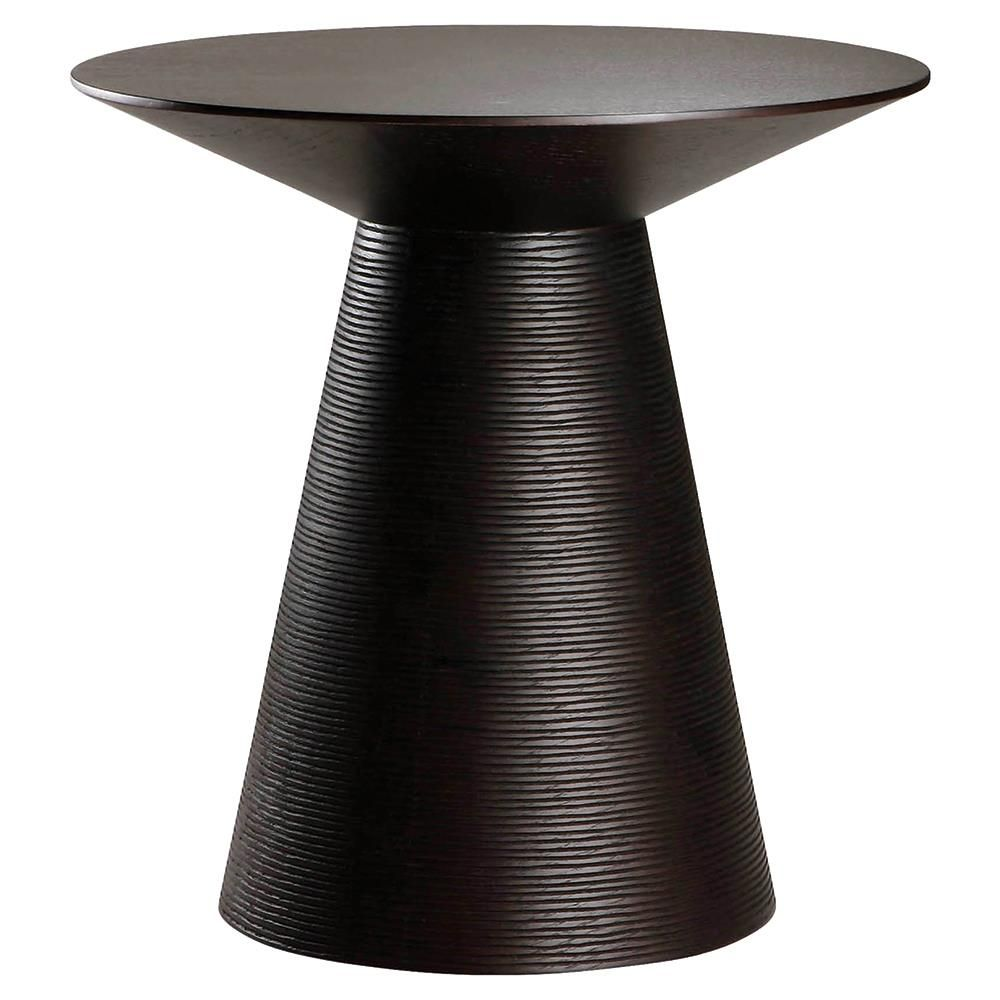 Aurea Mid Century Modern Ribbed Pedestal Round Black Oak Side End Table In 2021 Contemporary Side Tables Black Side Table Side Table [ 1000 x 1000 Pixel ]
