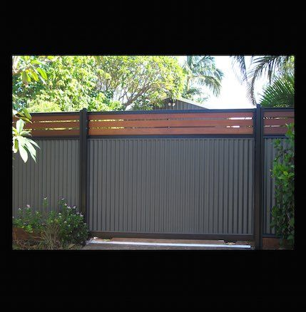 Gates With Style Timber Slats Colorbond Sliding Or