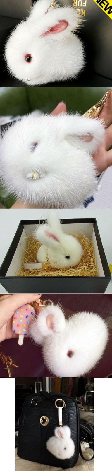 Keychain Bag Fur Rabbit Mink Gift For Her Key