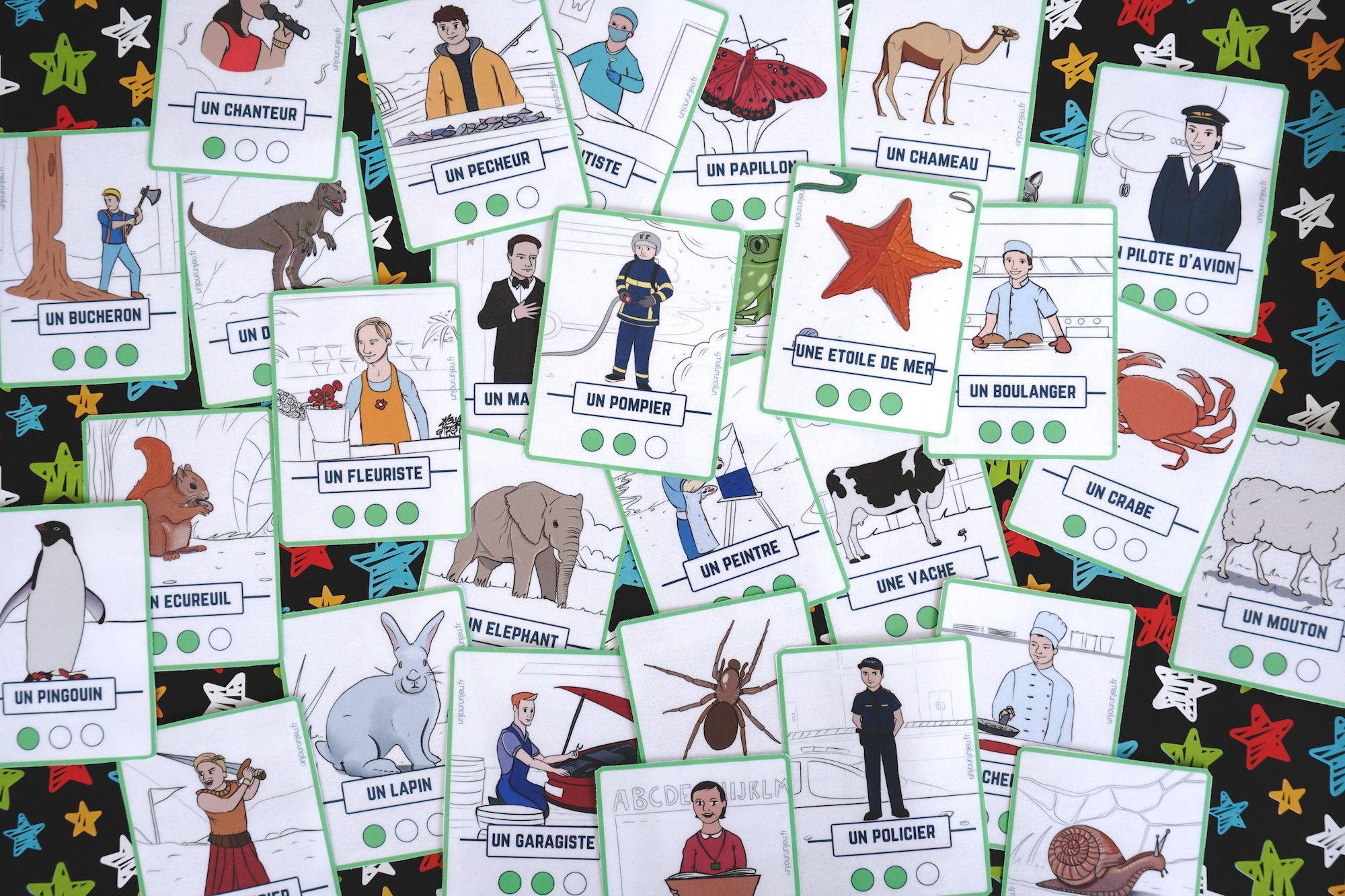 Kidi'mime : un jeu de mimes et d'action à imprimer gratuitement (avec images) | Jeu de carte ...