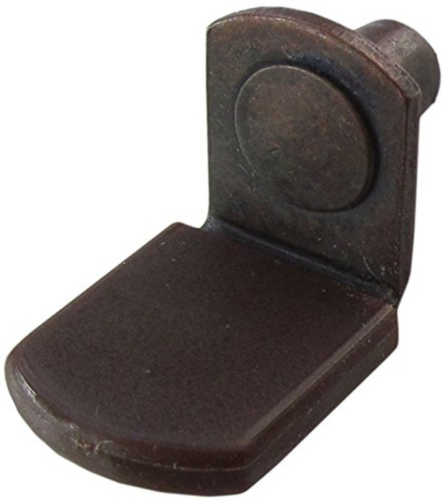 1 4 glass shelf support pegs w brown vinyl sleeve bracket