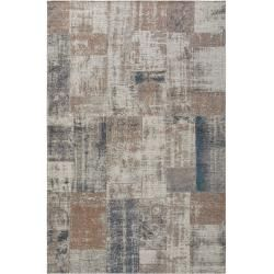 Photo of benuta Trends Flachgewebeteppich Frencie Beige/Blau 240×340 cm – Vintage Teppich im Used-Look