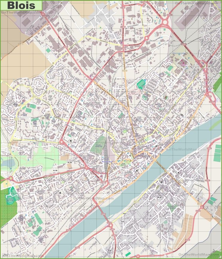Large detailed map of Blois Maps Pinterest France and City