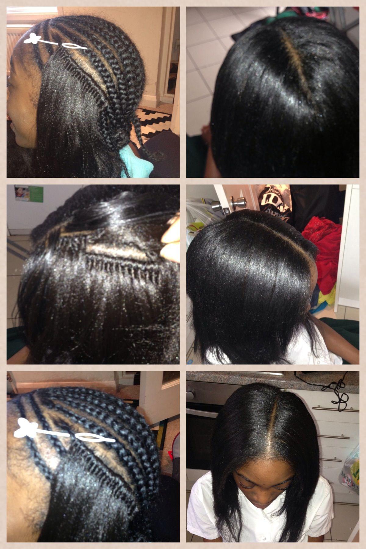 Crochet Weave With Kanekalon 1st Attempt Crochet Straight Hair Crochet Hair Styles Kanekalon Hairstyles
