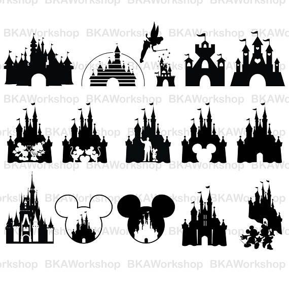 Disney castle cricut. Svg vector