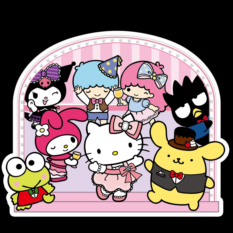 Peeker Anime Peeking Sticker Car Window Decal Pk440 Sanrio Cartoon Hello Kitty Hello Kitty My Melody Hello Kitty Wallpaper [ 1500 x 1500 Pixel ]