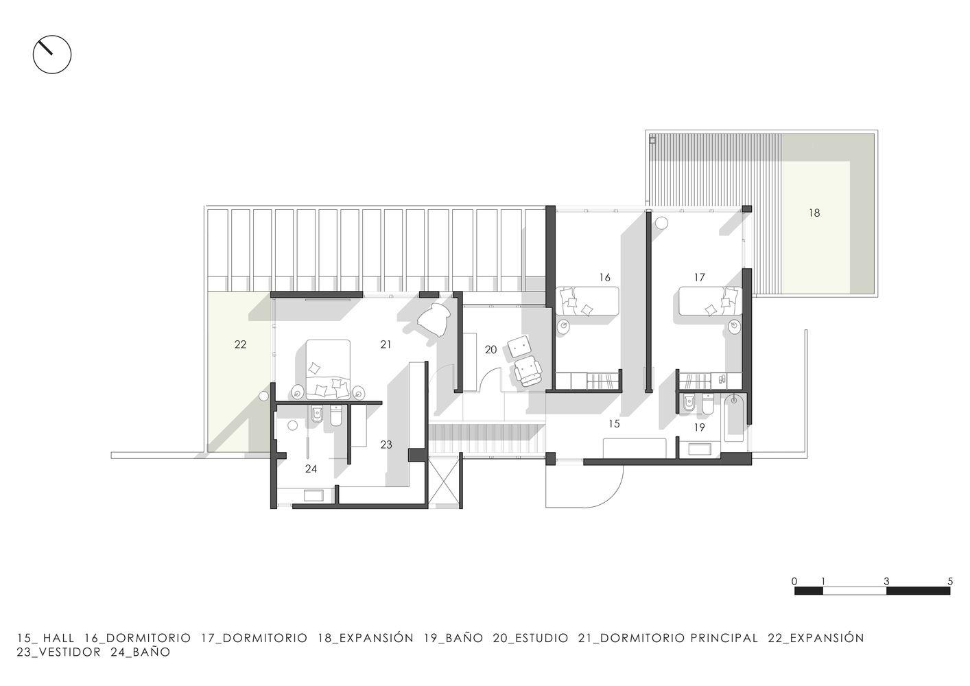Galeria De Casa Tradicion Estudio Geya 26 House Plans House Floor Plans