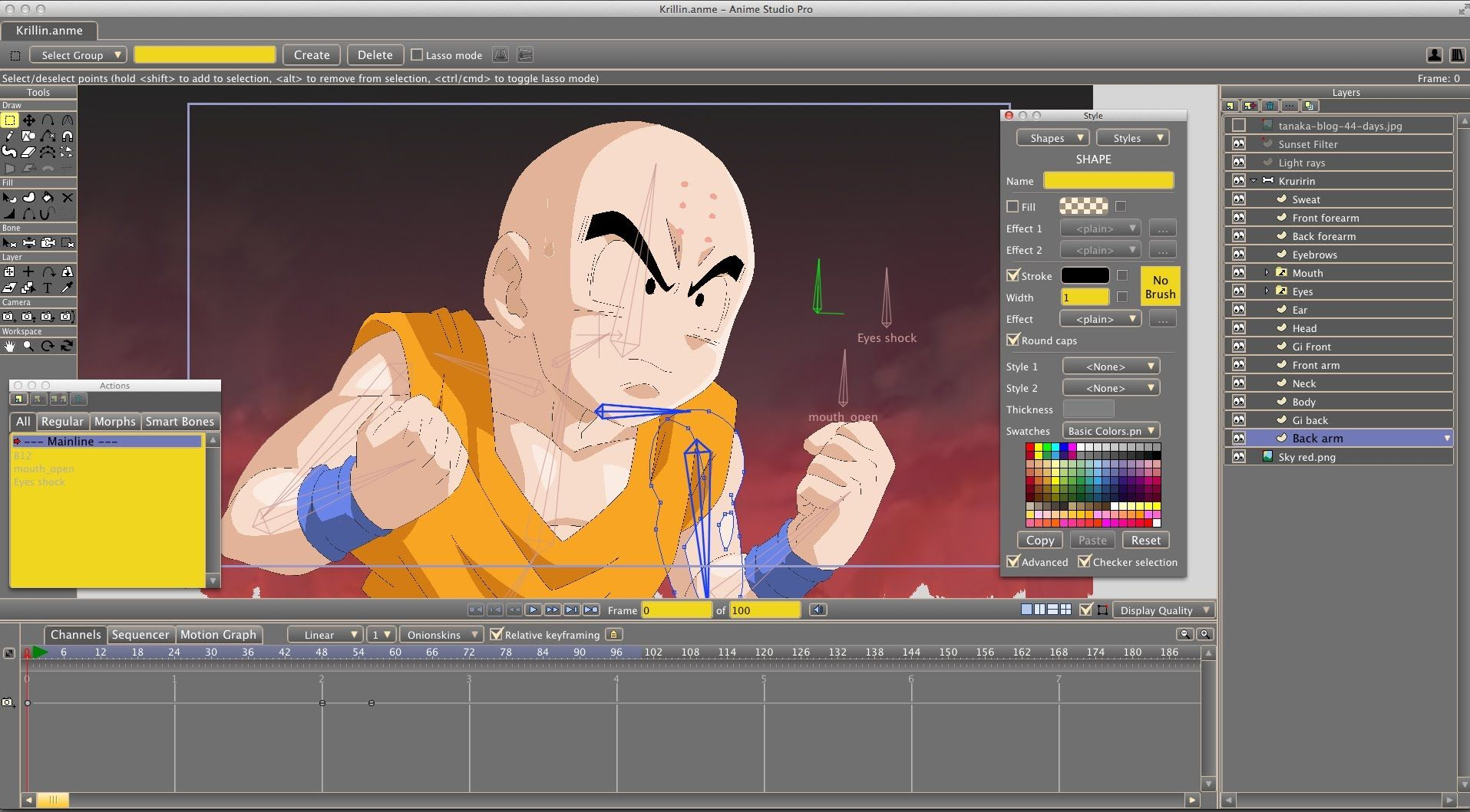 Krillin anime studio time lapse tutorial