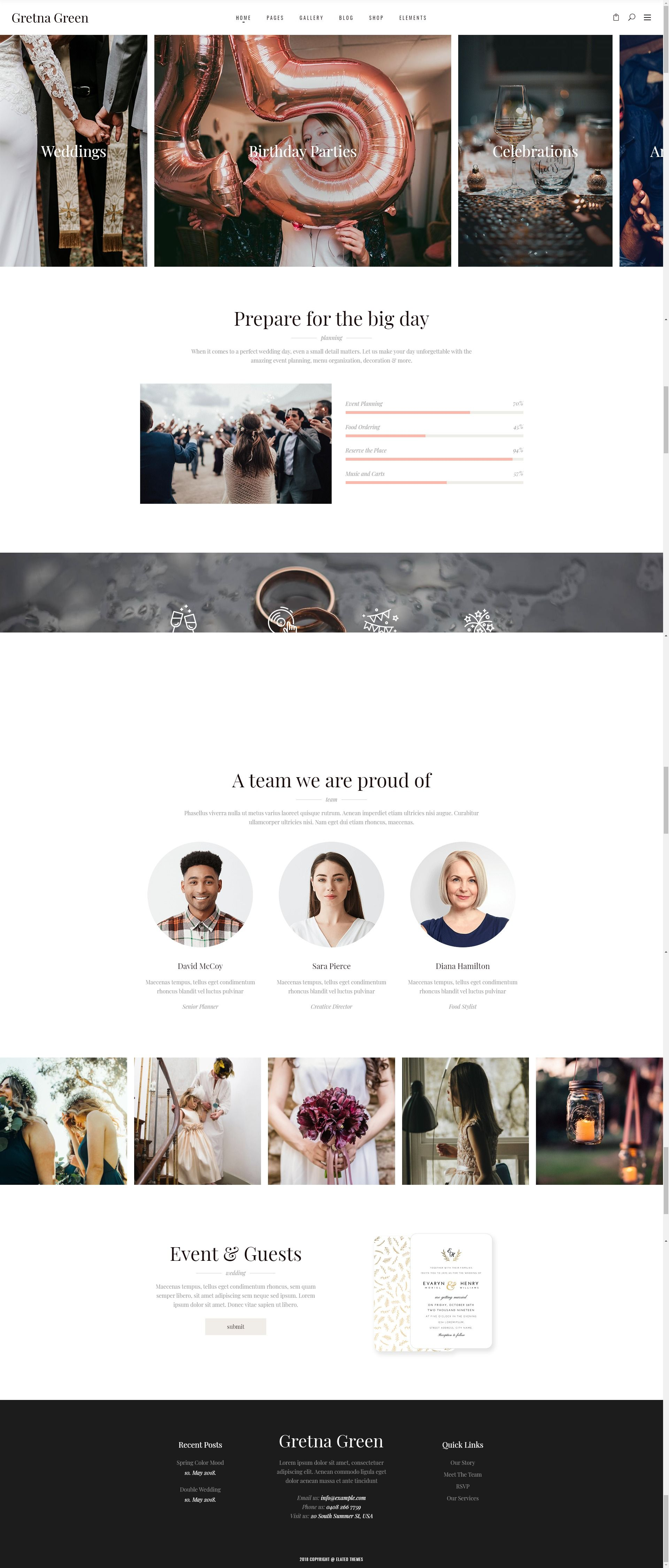 Gretna Green Theme For Wedding Planners And Celebrations Stylelib In 2020 Wedding Event Planning Green Event Gretna Green