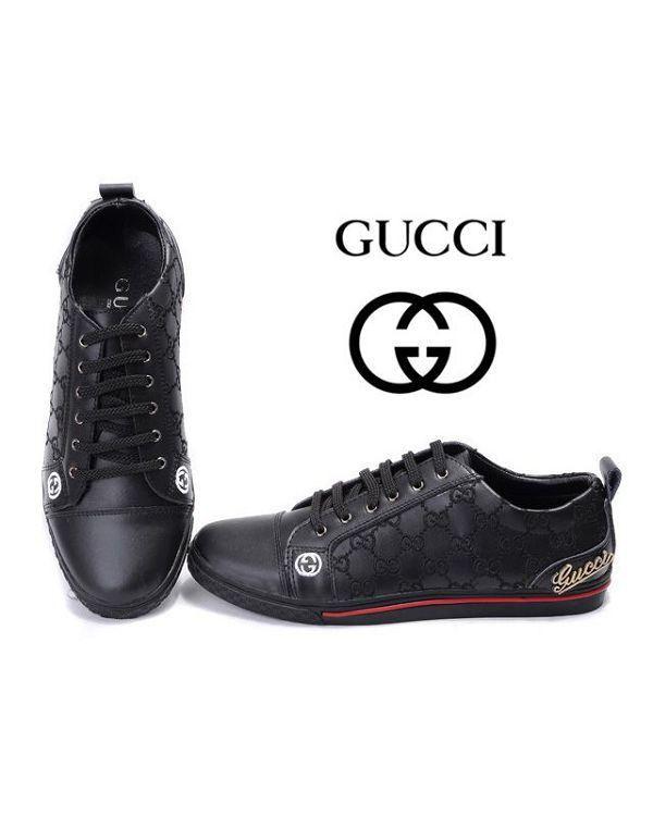 hot sale online f3c6d 65680 Zapatos Gucci Hombre FW96 Zapatos Bajas Gucci Hombre Negro y Mejor