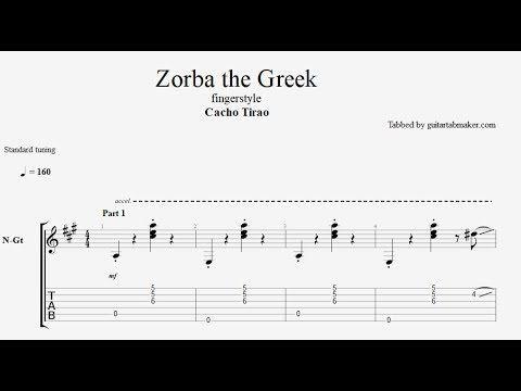 zorba the greek fingerstyle guitar tabs pdf guitar sheet music download guitar pro tab video. Black Bedroom Furniture Sets. Home Design Ideas