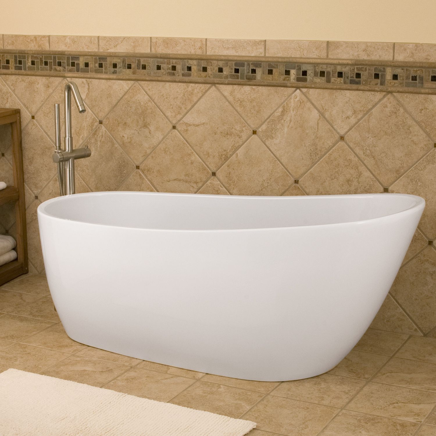 60 free standing tub. 60 Inches  Gena Freestanding Acrylic Tub Slipper Tub Tubs And Bathtubs
