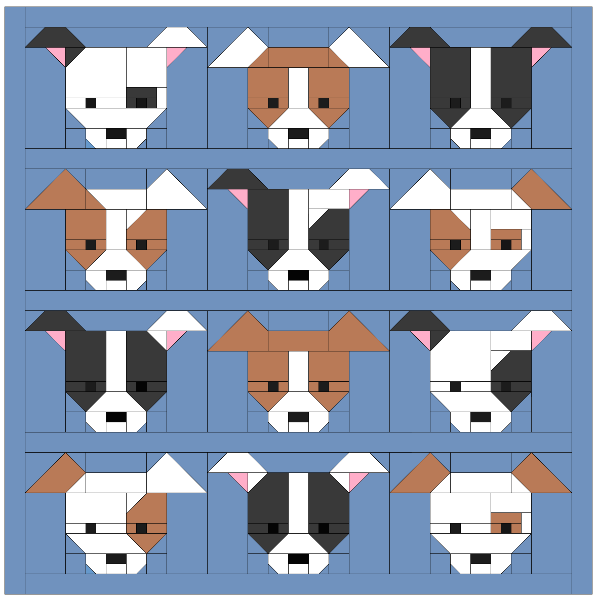 Quilted Dog Bed Pattern