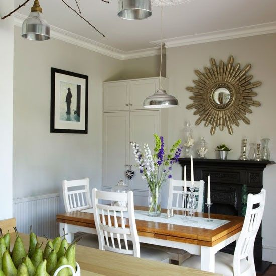 Step Inside This Light Filled Edwardian Terrace Ideal Home Dining Room Small Terrace Decor Neutral Dining Room