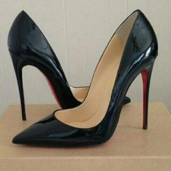 953043c78cc Black heels Never worn Shiny black heels Size 38