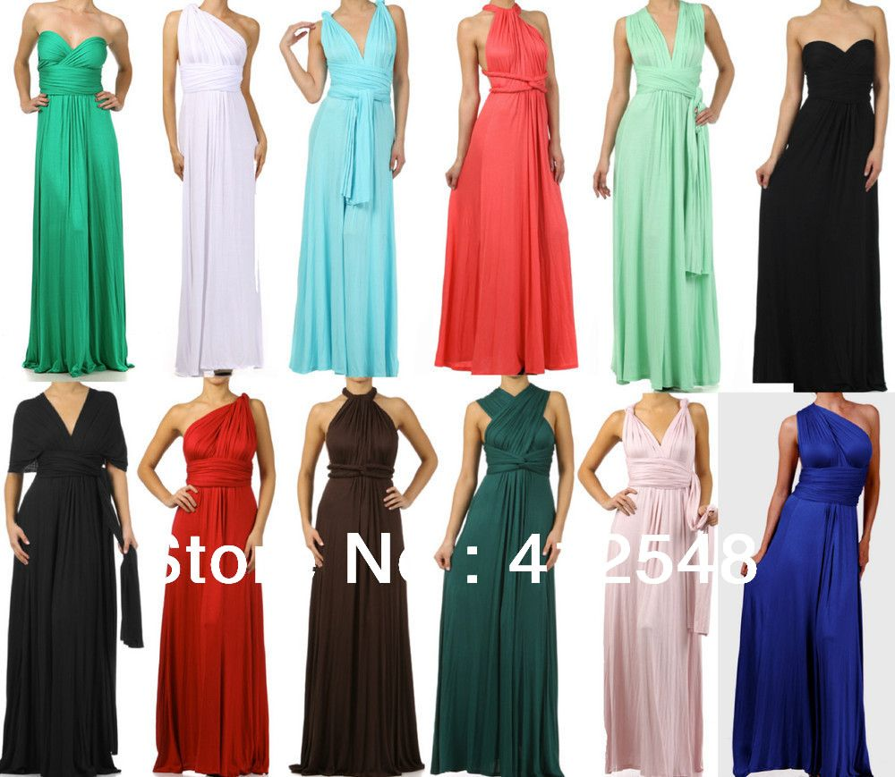 New design infinity wrap multi way convertible maxi dress long new design infinity wrap multi way convertible maxi dress long wedding bridesmaid dress formal party ombrellifo Images
