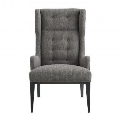 idol wing chair soot textured tweed grey ash | furniture