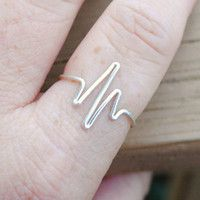 Heartbeat Ring.  Life without the ups and downs means you're not living.  I want this